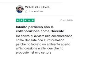 Recensione Michele Zillocchi Insegnante - EuroFormation Scuola di Formazione Digitale e Corsi Online