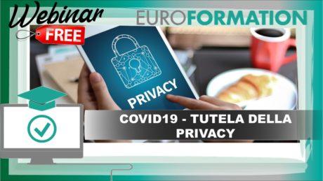 Webinar Gratuito Covid19 Tutela della Privacy - EuroFormation Scuola di Formazione Digitale e Corsi Online