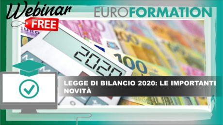 Webinar Gratuito Legge di Bilancio 2020 - EuroFormation Scuola di Formazione Digitale e Corsi Online
