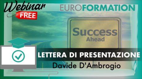 Webinar Gratuito Lettera di Presentazione - EuroFormation Scuola di Formazione Digitale e Corsi Online