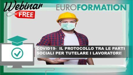 Webinar Gratuito Protocollo Coronavirus per Tutelare i Lavoratori - EuroFormation Scuola di Formazione Digitale e Corsi Online