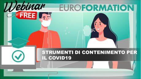Webinar Gratuito Misure di Contenimento del Covid-19 - EuroFormation Scuola di Formazione Digitale e Corsi Online