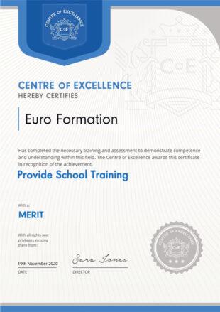 Logo Centre of Excellence - EuroFormation Scuola di Formazione Digitale e Corsi Online